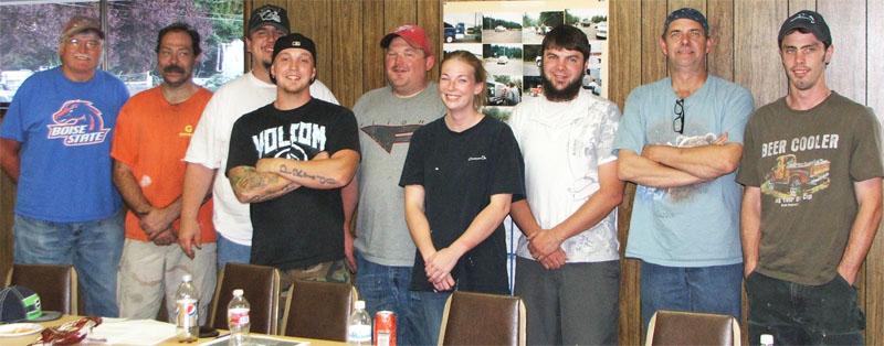 Members of the Organizing Committee at Bradken Engineered Products in Chehalis.