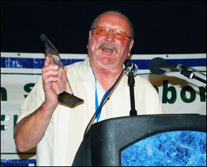 Don Guillot of IBEW Local 77 won the 2012 Bruce Brennan Memorial Award.