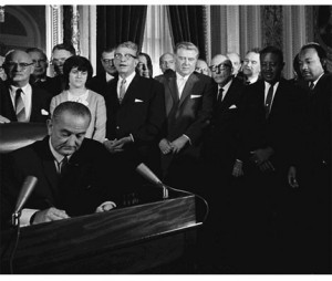 johnson-signs-voting-rights-act