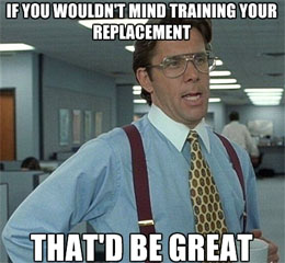 training-your-replacement